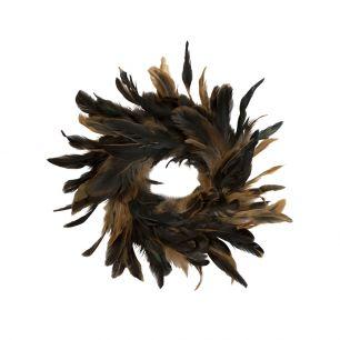 Wreath rooster black/brown 15cm (gallus gallus domesticus)