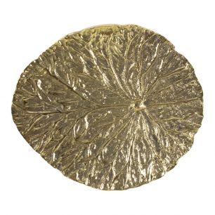 Gold doorknob leaf