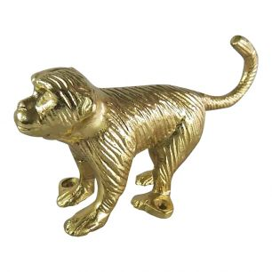 Coat rack monkey gold