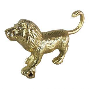 Coat rack lion gold