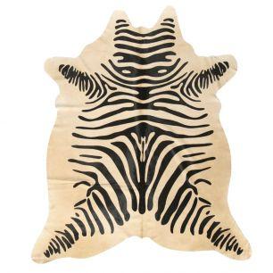 Carpet cow zebra print (bos taurus taurus)
