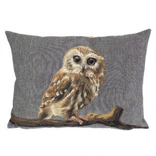 Gobelin cushion little owl 30x45cm