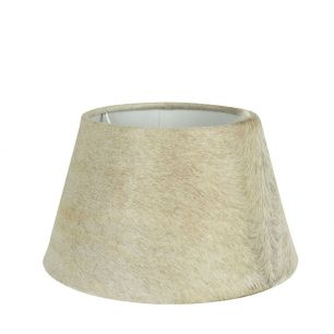 Lampshade cow hide beige 30cm (bos taurus taurus)