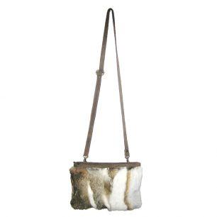 Crossbody bag rabbit white gold (oryctolagus cuniculus)