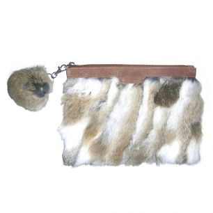 Pouch rabbit white gold (oryctolagus cuniculus)