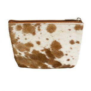 Make up bag natural brown (bos taurus taurus)