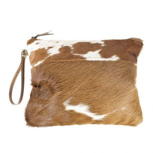 Toilet bag brown cow (bos taurus taurus)