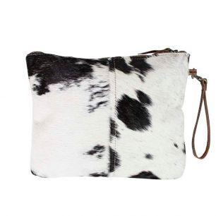 Toilet bag black cow (bos taurus taurus)