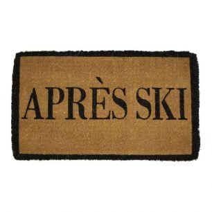 Coir doormat handmade apres ski