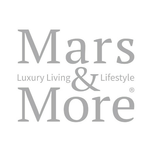 Planter cow on stand brown/white 46cm