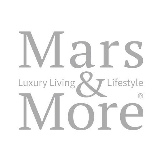 Coaster cow hide heart brown/white 14cm (bos taurus taurus)