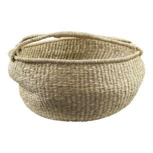 Seagrass basket broad natural