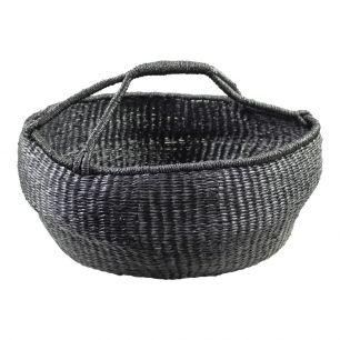 Seagrass basket broad black