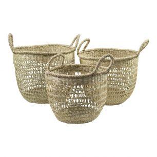Seagrass basket natural (set of 3)