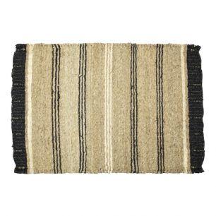 Seagrass carpet black stripe 60x90cm