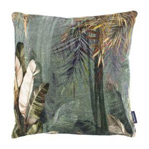 Cushion velvet jungle blue 45x45cm