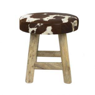 Stool chalet cow red brown round (bos taurus taurus)