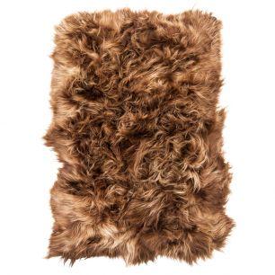 Throw 4-skin iceland sheep rust 130x200cm (ovis aries)