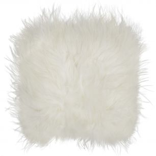 Seat pad sheep iceland white 37x37cm (ovis aries)