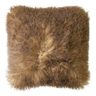 Big cushion sheep wool brown 50x50cm (ovis aries)