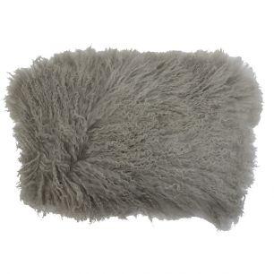 Cushion sheep curly hair grey 35x50cm