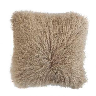 Cushion sheep curly hair beige 40x40cm