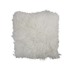 Cushion sheep curly hair white 40x40cm