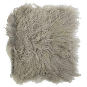 Seat pad sheep curly hair grey 40x40cm