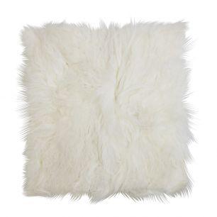 Seat pad sheep curly hair white 40x40cm